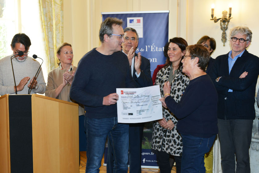 Remise allocation C. Grosset Ligue Contre le Cancer - Aveyron